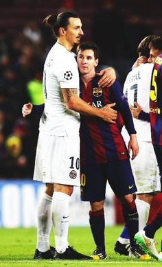 Ibra and Messi my 2 heros all in one pic - - Good Soccer Players, Best Football Players, Football Soccer, Football Is Life, World Football, Fc Barcelona, Zlatan Psg, Cr7 Messi, Messi 2015