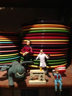Fiestaware and action figures
