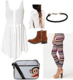 """""""dress and sweater leggings"""" by valerie-vanilla-dcvii on Polyvore"""