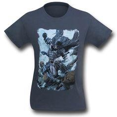Batman Punch on Grey T-Shirt