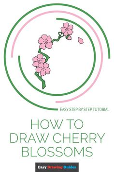 Drawing Tutorials For Kids, Flower Drawing Tutorials, Drawing Projects, Drawing Ideas, Flower Drawings, Drawing Flowers, Drawing Lessons, Animal Drawings, Cherry Blossom Drawing