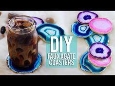 DIY Faux Agate Coasters - DIY Joy