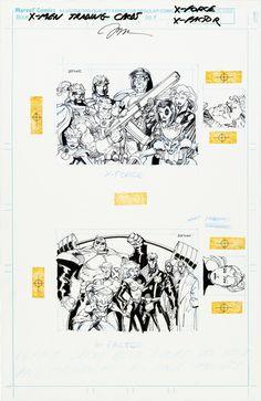 "brianmichaelbendis: ""X-Men trading cards art by Jim Lee """