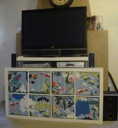 rose floral storage bin cover fits into ikea kallax or expedit shelf unit ikea drona. Black Bedroom Furniture Sets. Home Design Ideas