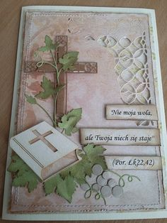 papierowa odskocznia: dla księdza First Communion Cards, Sympathy Cards, Quilling, Invitation Cards, Scrapbook Pages, Holiday Cards, Diy And Crafts, Decorative Boxes, Floral