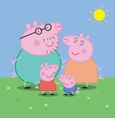 Cartoon Animated Peppa Pig & Family Vector Illustration - http://www.welovesolo.com/cartoon-animated-peppa-pig-family-vector-illustration/
