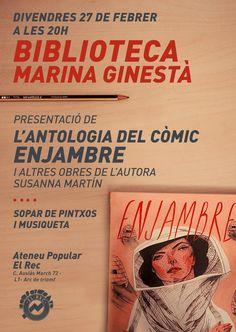 my story as a comic: Enjambre en Biblioteca Marina Ginestà de Barcelona...
