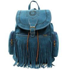 Cheap bag hang, Buy Quality bag paper directly from China bag shopper Suppliers: Tassel Bag Women Backpack Bag Bolsa Feminina Retro Engraving and Fringe Design Women's Vintage Satchel Mochila Feminina Hippie Backpack, Satchel Backpack, Satchel Handbags, Fringe Purse, Travel Backpack, Fringe Handbags, Fringe Bags, Blue Handbags, Bohemian Style