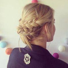 quick braided updo