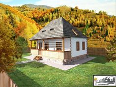 Village House Design, Village Houses, Home Fashion, Traditional House, Countryside, Gazebo, Outdoor Structures, Exterior, Rustic Homes
