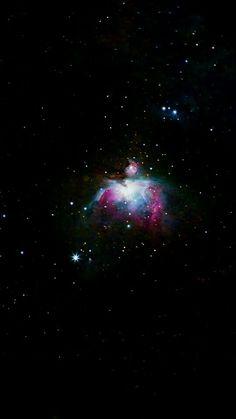 Um Wallpaper de uma foto real da Nebulosa de Órion.