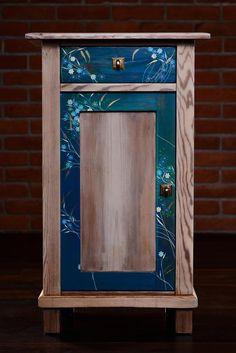Nakastlik renowacja szafki nocnej ręcznie malowane
