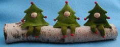 Three Christmas Trees Kit- Pattern, Sewing