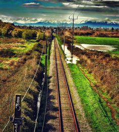 Train tracks in the south of Chile captured by John Bankson.