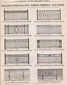 Wrought Iron Stair Railing, Metal Railings, Wrought Iron Fences, Front Porch Railings, Balcony Grill Design, Balcony Railing Design, Iron Gate Design, Balustrades, Iron Balcony
