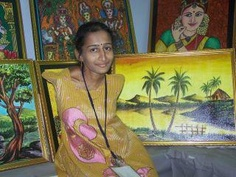 Girl with no hands. Paints with toes. Kudos to her and her parents who offered her life even as millions of gal children are disposed off being termed a liability.