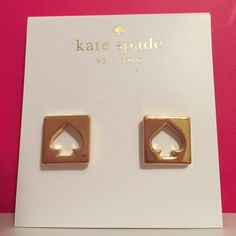 TAKE 30% OFF ♠️ Kate Spade Gold Spade Earrings NWT ✨NWTs Kate Spade ♠️ Gold Hole Punch Earrings • Includes dust bags • smoke free home • 20% donated to the American Cancer Society • IF INTERESTED LET ME KNOW & I WILL MAKE YOU A NEW LISTING AS I HAVE 2 • Thanks & Happy Poshing! ✨ kate spade Jewelry Earrings
