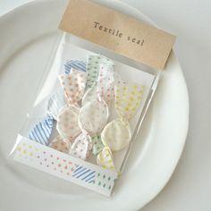 シール50枚入り(5柄×10)Textile seal*Default  by 紙のかんづめ 文房具・ステーショナリー しおり・ステッカー