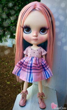 RESERVED for Amanda Lala OOAK Custom Blythe Doll by SweetCrate