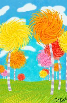 Fields of Truffula Trees by ~chocolatetunda on deviantART