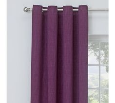 Buy Collection Linen Look Blackout Curtains - 117x137cm - Plum at Argos.co.uk - Your Online Shop for Curtains, Blinds, curtains and accessories, Home furnishings, Home and garden.