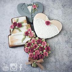 Rose Wedding Cookie decorating workshop for beginner🇨🇮 #royalicingcookies #royalicing #cookie #weddingcookies #rosecookies…