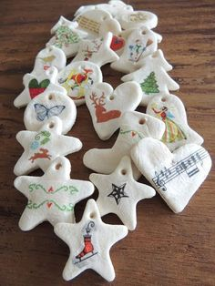 How to make salt dough very easy - Decor Scan : The new way of thinking about your home and interior design Kids Crafts, Winter Crafts For Kids, Diy For Kids, Diy And Crafts, Salt Dough Christmas Ornaments, Clay Ornaments, Merry Christmas And Happy New Year, Christmas Crafts, Rosalie