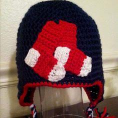 Boston Red Sox crocheted beanie