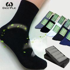 5pairs Men's Socks High Quality 2016 Brand New Men Bamboo Socks cotton Autumn Winter Men socks striped socks for men 40-45 size