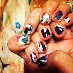 Watercolor Nail Wraps by Tattify #Nail, #Tattoo, #Wrap