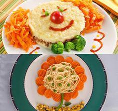 fun snacks - clown, flower