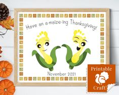 Thanksgiving Activities for Kids, Printable Craft, Thanksgiving Day Digital Download, Maize Corn Card for Kids, Newborns and Toddlers by HolaSunshineDesigns on Etsy Babys First Thanksgiving, Thanksgiving Activities For Kids, Thanksgiving Art, Floral Printables, Printable Crafts, Toddler Crafts, Crafts For Kids, Fall Arts And Crafts, Simply Stamps
