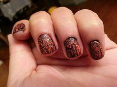 Ready for Halloween! My Nails, Class Ring, Nail Art, Halloween, Jewelry, Jewlery, Jewerly, Schmuck, Nail Arts