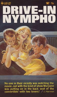 Drive-in Nympho - 10x17 Giclée Canvas Print of Vintage Pulp Paperback