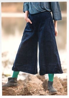 Cotton corduroy trousers – Trousers – GUDRUN SJÖDÉN – Webshop, mail order and boutiques   Colourful clothes and home textiles in natural mat...