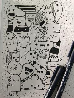 doodle Doodle Wall, Cute Doodle Art, Doodle Art Designs, Doodle Art Drawing, Cool Art Drawings, Doodle Sketch, Drawing Sketches, Doodle Art Simple, Doodle Art Name