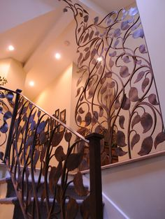 Leaf Railing by Artesano Iron Works