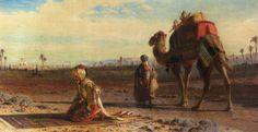 PAINTING BY CARL JOHANN HAAG - The Prayer, 1875
