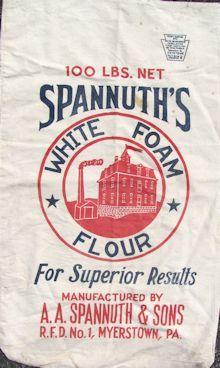 Sharon's Antiques Logo Feedsack Page Flour Sacks, Bakery Decor, American Farmhouse, Vintage Packaging, Feed Sacks, Grain Sack, Logo Ideas, Lebanon, Vintage Designs