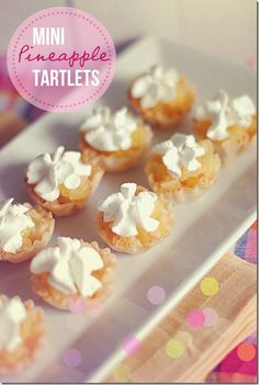 Mini Pineapple Tartlets, only 1 WW point each