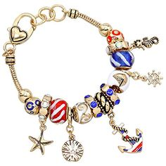 Bracelet Bead Charm Beach and Patriotic USA Style Gold Tone Rosemarie Collections http://www.amazon.com/dp/B00XPTBMEG/ref=cm_sw_r_pi_dp_NbK2wb1AV1CB6