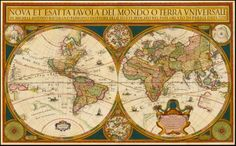 Michel Antoine Baudrand's world map, 1680.