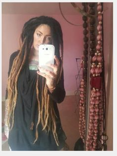 long ombre dreads