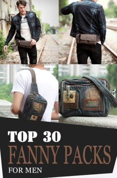 """The new """"it"""" bag this year is a fanny pack! It has been in demand and spotted all over the world at most recent years and even today! It is also known as """"belt bag""""or """"waist bag""""Maybe, you're wondering why people are dying to have this bag. Leather Bum Bags, Leather Fanny Pack, Leather Purses, Leather Men, One Shoulder Backpack, Side Bags, Mens Style Guide, Denim Bag, Waist Pack"""