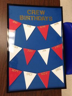 Made this for my class birthday chart. Nautical decor classroom. Write on the glass frame with vis-a-vis markers