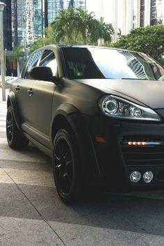Matte Black Porsche Cayenne