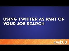 Using Twitter as part of your job search   Ask CareerBuilder