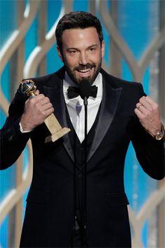 ¡El ganador de la noche! Ben Affleck se erigió como Mejor Director por ´Argo´, que se llevó el premio a la Mejor Película de 2012.
