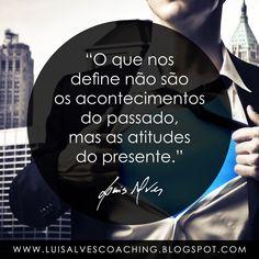 "PENSAMENTO DO DIA  O que o define?  QUOTE OF THE DAY: ""What defines us are not the events of the past, but the attitudes of the present. - LUIS ALVES""  Conheça o meu canal no YouTube: https://www.youtube.com/c/luisalvescoaching  #PensamentoDoDia #FraseDoDia #Atitudes #Passado #Presente #Coaching #LeiDaAtração #LuisAlvesFrases #Sucesso #Prosperidade"