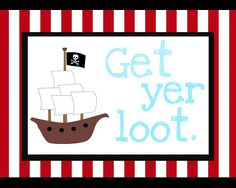 Pirate Party Day 4: Pirate Loot Bags (and 3 free printables!)